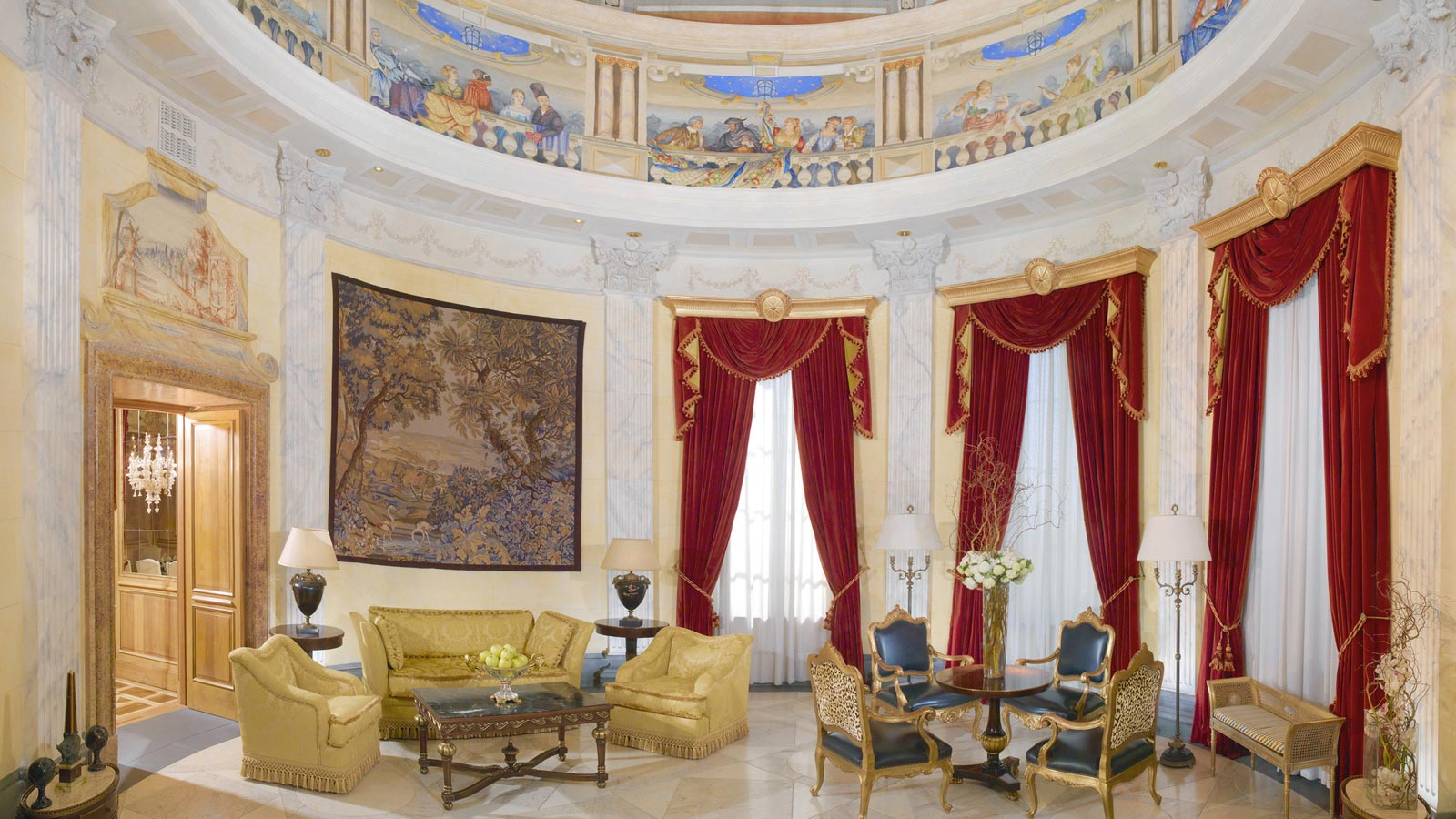 Guest rooms suites the westin excelsior rome for Hotel design rome